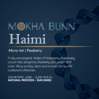 Al Haimi Yemen Specialty Coffee Canada Mokha Bunn